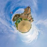 Chateau Frontenac Quebec City Little Planet Royalty Free Stock Image