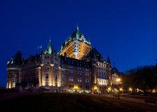 Chateau Frontenac in Quebec City side view Royalty Free Stock Photos