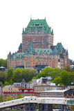 Chateau Frontenac in Quebec City Vertical Stock Image