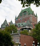 Chateau frontenac seen from lower town Stock Image