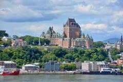 Chateau Frontenac von altem Quebec Stockfotografie
