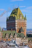 Chateau Frontenac in winter Stock Images