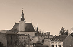 Chateau in Frydek-Mistek. Beautiful chateau in Frydek-Mistek, Czech Republic in ochre tones royalty free stock images