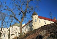 Chateau in Frydek-Mistek. Beautiful white chateau in Frydek-Mistek, Czech Republic on sunny autumn day royalty free stock image