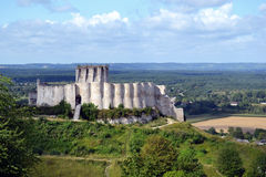 Chateau Gaillard Castle remains royalty free stock images