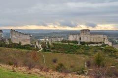 Chateau Gaillard, Eure, Les Andelys Royalty Free Stock Photo