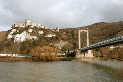 Chateau Gaillard and river Seine Royalty Free Stock Photo