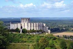 Chateau Gaillard-Schloss bleibt Lizenzfreie Stockbilder