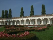 Chateau Garden. Flower Garden in Chateau Kromeriz, Czech stock images
