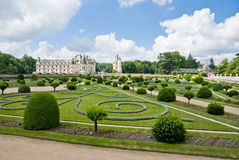 Chateau and Garden Chenonceau Royalty Free Stock Images