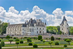 Chateau and Garden Chenonceau Royalty Free Stock Photo