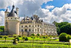 Chateau and Garden Chenonceau Stock Photo