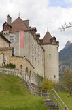 Chateau Gruyeres in Fribourg Canton, Switzeland. Royalty Free Stock Image