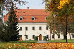 Chateau in Havirov in autumn. Chateau in Havirov, Czech Republic and trees in the park around it in autumn Stock Photography