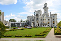 Chateau Hluboka in South Bohemia Royalty Free Stock Images
