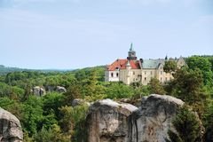 Chateau Hruba Skala Arkivbild