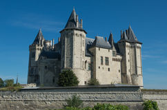 Chateau i Saumur Arkivfoton