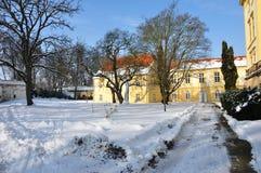 Chateau im Winter Lizenzfreies Stockfoto