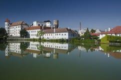 Chateau in Jindrichuv Hradec, Tsjechische Republiek stock fotografie