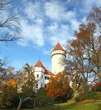 Chateau Konopiste in autumn day, Czech republic Stock Photos