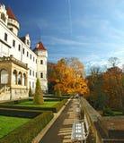Chateau Konopiste in autumn day, Czech republic Stock Image