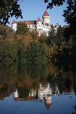 Chateau Konopiste in reflection Royalty Free Stock Photography