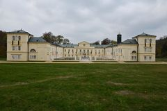 The chateau Kynzvart. Overall view of the chateau Kynzvart in the Czech Republic royalty free stock image