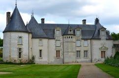 Chateau La Chatonniere near Villandry. Sophisticated and full taste garden and chateau La Chatonniere near Villandry. Loire Valley stock image