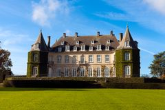 chateau la hulpe royalty free stock photos