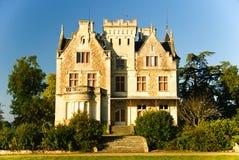 Chateau Lachesnaye nella regione Medoc, Francia Fotografie Stock Libere da Diritti