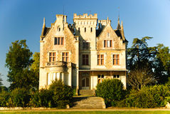 Chateau Lachesnaye in region Medoc, France Royalty Free Stock Photos