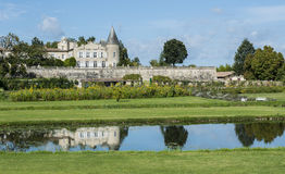 Chateau Lafite-Rothschild with Pond Saint-Estephe Stock Image
