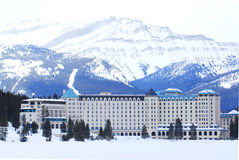 Chateau Lake Louise Fotografie Stock