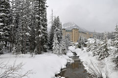 chateau Lake Louise Arkivbilder