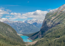 Chateau Lake Louise, Banff nationalpark Arkivfoto