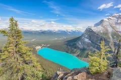 Chateau Lake Louise, Banff nationalpark Royaltyfria Foton
