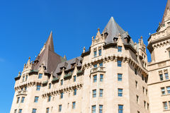 Chateau Laurier Hotel in Ottawa. This castle like hotel  was named after Sir Wilfred Laurier who was the Prime Minister of Canada. It opened to the public in Stock Image