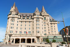 Chateau Laurier Hotel in Ottawa. Ottawa, Canada - August 08, 2008: Chateau Laurier Hotel in Ottawa. This castle like hotel was named after Sir Wilfred Laurier royalty free stock image