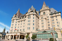 Chateau Laurier Hotel in Ottawa. Ottawa, Canada - August 08, 2008: Chateau Laurier Hotel in Ottawa. This castle like hotel was named after Sir Wilfred Laurier stock photos