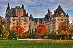 Chateau Laurier Hotel in Ottawa. Autumn colours High Dynamic Range picture. Chateau Laurier Hotel in Ottawa Stock Photography