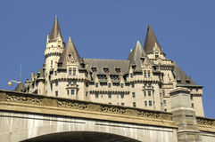 Chateau Laurier Ottawa. On blue sky background. Summer day Stock Photo