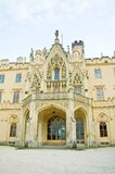 Chateau Lednice. Exterior of Chateau Lednice, South Moravia, Czech Republic Stock Image