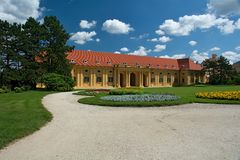 Chateau Lednice, Stable. Lednice castle is a part of Lednicko-valtický area, natural complex reaching almost 300km2 Stock Photography