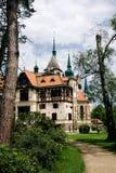 Chateau Lesna nahe Zlin, Tschechische Republik Lizenzfreies Stockbild