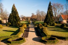 Chateau Libochovice - park Royalty Free Stock Photography