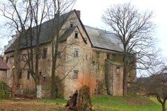 Chateau Maciejowiec Arkivfoto