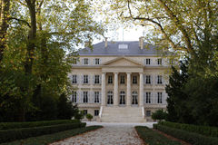 Chateau Margaux. Estate Chateau Margaux. Frontward view stock images