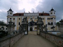 Chateau Milotice, Tjeckien Arkivfoto
