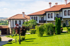 Chateau - a modern farm in the national style. Bulgaria Royalty Free Stock Photography