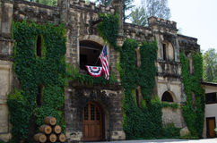 """Chateau Montelena. Winery in Napa Valley, California is most famous for winning the white wine section of the historic """"Judgment of Paris"""" wine competition in Stock Photo"""